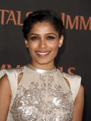 Фрида Пинто, фото 287. Freida Pinto 'Immortals 3D' Los Angeles premiere at Nokia Theatre L.A. Live on November 7, 2011 in Los Angeles, California, foto 287