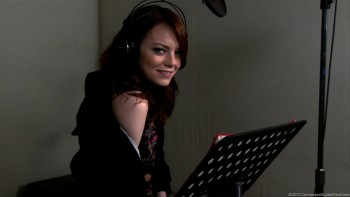 Emma Stone Sleeping Dogs behind the scenes (video game)