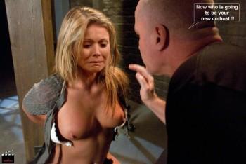 Kelly ripa gagged